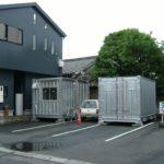 コンテナ製倉庫 でお店の駐車場の空きスペースを保管庫に。貸出で収益化も可能